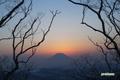 羊蹄山~夕焼け