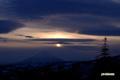 羊蹄山と夕暮れの雲