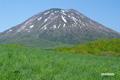 残雪の羊蹄山