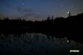 夜明け前の神仙沼~ぎょしゃ座・プレアデス(スバル)・金星・火星