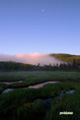 神仙沼湿原~朝の月