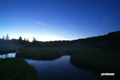 月夜の神仙沼湿原~近づく夜明け