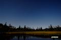 月明かりの神仙沼湿原
