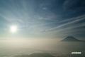 朝陽~雲海の羊蹄山
