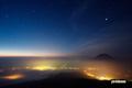 倶知安町夜景~羊蹄山・木星