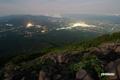 羊蹄山からの夜景(倶知安町・共和町・岩内町・ヒラフペンション街他)