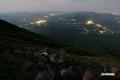 羊蹄山からの夜景(ニセコ町・昆布町・ヒラフペンション街他)