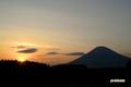 夕陽・羊蹄山