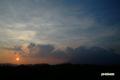 夕陽と羊蹄山