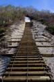 イワオヌプリ登山口の階段