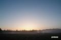 日の出直前の東空