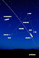 夏の大三角を通過するISS(国際宇宙ステーション)