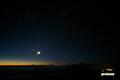 薄明の3惑星と月