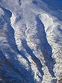 羊蹄山東斜面の谷筋