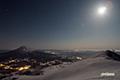 月明かりの羊蹄山・ニセコ町方向