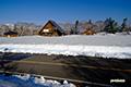 残雪の神仙沼駐車場