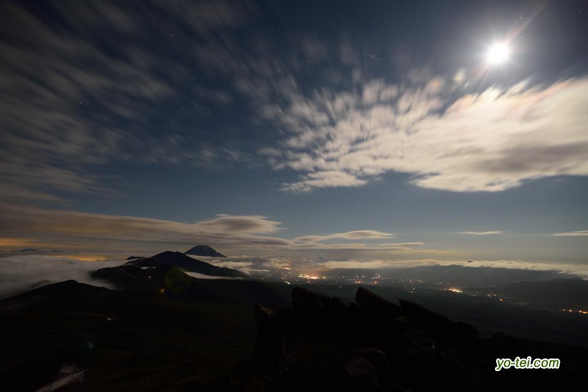 月夜~羊蹄山