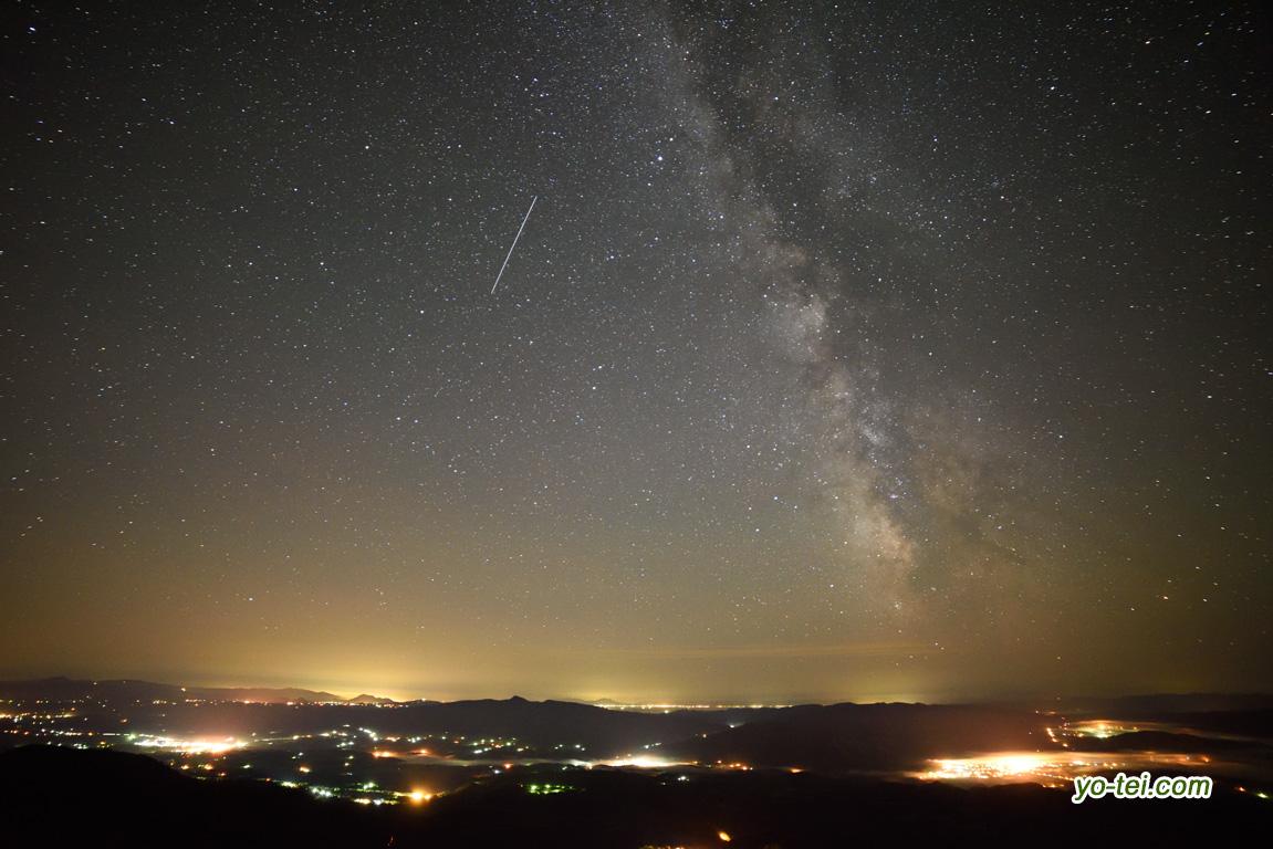 天の川~人工衛星