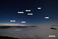 月明かりの星空と雲海