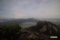 月明かりの山頂部とニセコ連峰~羊蹄山