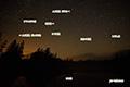 湿原の星空~北天・人工衛星