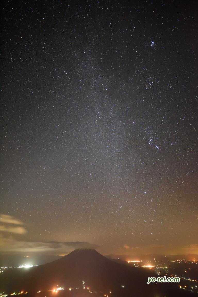 冬の星座と天の川