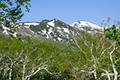 白樺山(左)と目国内岳