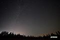 北の空と人工衛星