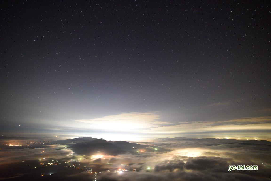 羊蹄山からの夜景~倶知安