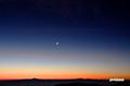 暁の月と金星