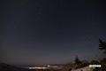 月夜~残雪の神仙沼近辺