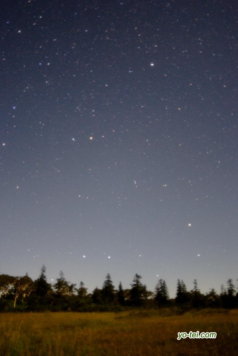 月夜~湿原の星空~大小北斗